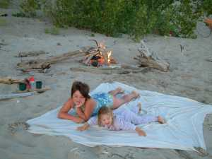 Campfire on beach - just us!